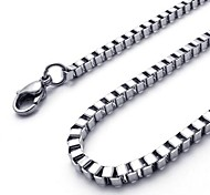 Punk Fashion (chain) Silver Stainless Steel Chain Necklace(Silver) (1 Pc)