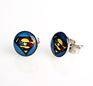 Fashion Blue Background Stud Earrings