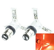 1157 (P21/5W Ba15d) 2.5W 12x5050 SMD  635-700nm Red LED Spider Lights for Car Down Lights Brake Lights(DC 12V/2pcs)