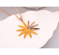 Fashion Long Candy Flower Orange Pink Yellow Green Alloy Korea Necklace for Women In Jewelry