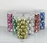 24 pcs decorações de natal penduradas bolas de galvanoplastia gota (φ = 7 centímetros)