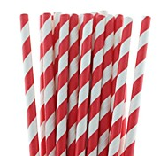 27 Colors Eco-Friendly Paper Straws Striped Paper Drinking Straws for Halloween Christmas Party Drinking (25 PCS)