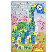 EVA Mosaic Crystal 3D Stickers Children Hand DIY Puzzle Brontosaurus Toy