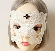 Handmade Half Face White Lace Halloween Party Mask