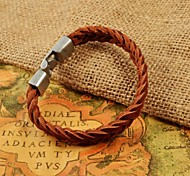 Fashion Men's Weave Leather Bracelets