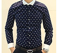 Men's British Style Fashion Long Sleeves Shirt