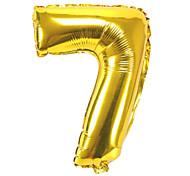32 pollici d'oro numero sette 7 alluminio doccia membrana bambino festa di compleanno palloncino