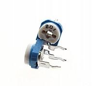 200Ohm Blue & White Adjustable Resistor - Blue + White (10-Piece)