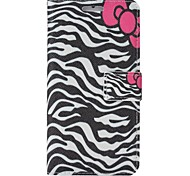Zebra-Stripe Colored Drawing Pattern PU Leather Full Body Case with Stand and Card Slot for iPhone6