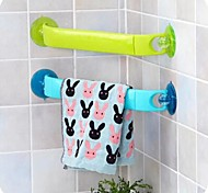 Stretch Plastic Towel Rack(Random Color)