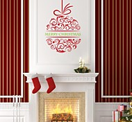 zooyoo® forma bonito colorido pvc removível natal lanterna de adesivos de parede e adesivos de parede para a decoração da casa