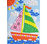 EVA Mosaic Crystal 3D Stickers Children Hand DIY Sailing Toy