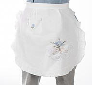 "Embroidered Cotton Fabric Apron,18X20""(45X50CM)"