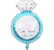 giorno di festa palloncino blu anello di diamanti di san valentino membrana di alluminio