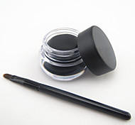 Waterproof Black Natural EyeLiner with Brush Set