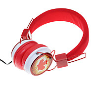 WZS- Ergonomic Hi-Fi Stereo Headphone with Mic Microphone-Canada-Red