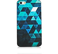 Reflective Glass Pattern Black Frame Back Case for iPhone 4/4S