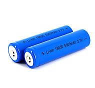 12 pcs neutro 18650 3.7v-4.2v 5000mAh bateria de lítio recarregável azul profundo