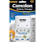 cargador estándar para Camelion pila aa / aaa con baterías recargables 4pcs 600mah alwaysready ni-mh aaa