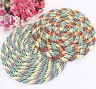 Pet Fashion Cotton Rope Weaving Frisbee(Random Color)