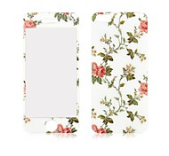 Angibabe Peony Pattern Front and Back Tempered Glass Screen Protector for iPhone 5/5S