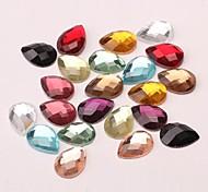 Z&X®  10*14MM 50 PCS Fashion DIY Colorful Alien Glass Flatback(Random Color)