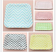 Eco-Friendly Multi-Color Square Paper Plates Picnic Plates BBQ Plates for Party (12 pcs)