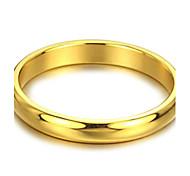 Vertraglich Glatte Goldenen Ring Titan Stahl weiblich