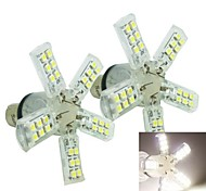 1156 (P21W Ba15s) 4W 40x528 SMD 180-240LM  6500-7500K White Spider Lights for Car Brake Lights(DC 12V/ 2pcs)
