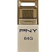 pny enlace OU2 unidad duo OTG destello del usb 64gb