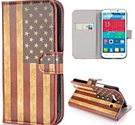 Retro USA Flagge Muster Brieftasche Stil Stand pc + Ledertasche für Alcatel One Touch Pop C9 Dual 7047d
