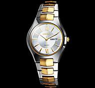 la banda de reloj de acero del cuarzo de la plata elegante de los hombres (colores surtidos)