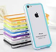 df zweifarbige Mittel transparente TPU Bumper für iPhone 5c (Farbe sortiert)