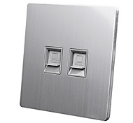 TCLCCC NBE-X5-024 86 Model Switch Socket Panel Network Computer Module Wall Plate - Silver