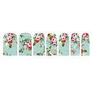 14PCS Classic Super Beauty Flower Nail Art Stickers