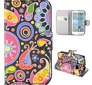 Colorized Fish Pattern Wallet Style Foldable Stand Leather Case for Alcatel One Touch Pop C3