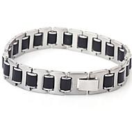 de acero de titanio de sílice de moda pulseras de tres piezas de láminas de los hombres