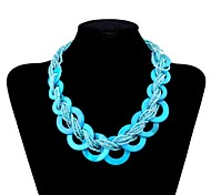 Lureme®Bohemian  Circle Beads Necklace