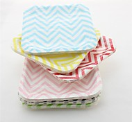 Eco-Friendly Multi-Color Chevron Square Paper Plates for Party (12 pcs)