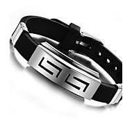 z&pulseras de silicona de acero de titanio personalidad de la moda de los hombres de la joyería X®