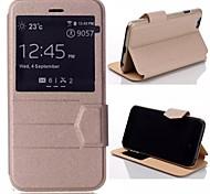 Stripe nouvelle couverture en cuir flip de catégorie luxe pour l'iphone 6 (couleurs assorties)