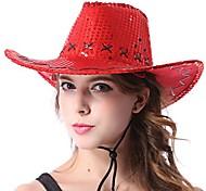 halloween cappello di partito multicolor donna cowboy occidentale