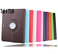 PU Leather Protective Rotatable Stand Tablet Case for Samsung Tab T530
