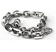 Men's Fashion Personality Titanium Steel Silver Bracelets