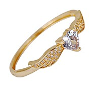 Women's Angel's Heart Two Colors With Big Zircon Fashion Noble Bangle
