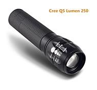 LT-BG Q5 New Design 3-Mode 1×Cree XRE-Q5 Zoom LED Flashlight(250LM,3×AAA,Black)