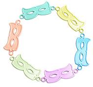 b connecteur lettre multicolore pour bracelet (10 pièces un paquet)