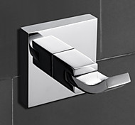 "YALI.M®,Robe Hook Chrome 68 x 48 x 48mm (2.67 x 1.88 x 1.88"") Brass Contemporary"