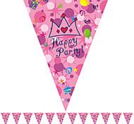 Multicolor Cartoon Happy Birthday Flag Banner Party Accessory