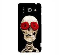 Rose Skull Design Hard Case for HuaWei G510